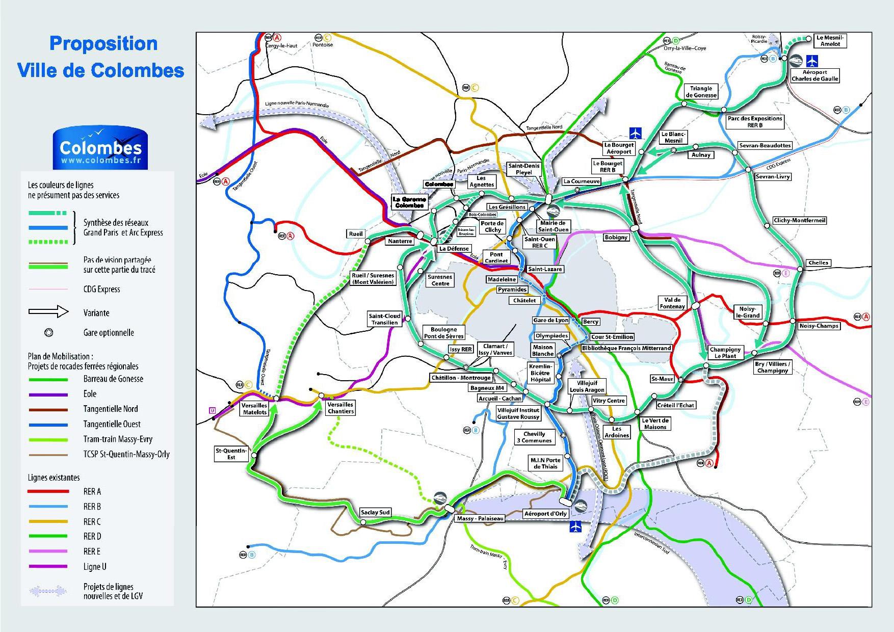 Les Maires de Colombes et de la Garenne-Colombes proposent un tracé ...