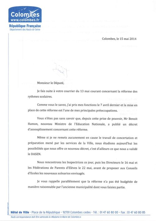 Courrier Mr Alexis Bachelay